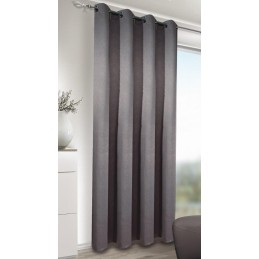 Draperie cu inele Blackout Leather anthr 245x135